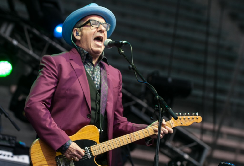 Elvis Costello on the main stage. Photo by Morgen Schuler
