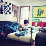 """Woke up in a college house this morning in Eugene"" - kris"