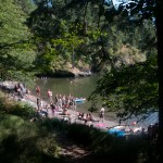 The cove is a popular place for a swim